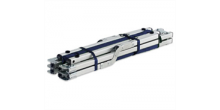 Feldbett, Aluminium 210 cm, blau