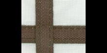 Fenstergaze 65x45cm mit Gurtkreuz oliv