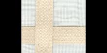 Fenstergaze 65x45cm mit Gurtkreuz natur