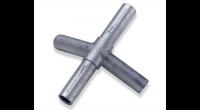 Knotenstück 4-armig, Aluminium